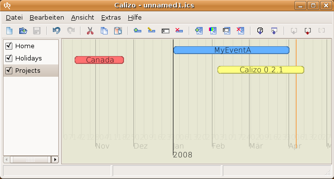 Calizo - Timeline calendar with zoom
